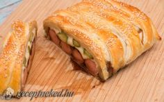 Hot dog leveles tésztában Hot Dog, Sandwiches, Food, Roll Up Sandwiches, Meal, Essen, Hoods, Paninis, Meals