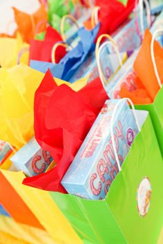 I gave out Candy Land games and lot's of candy as favors
