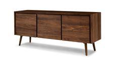"Seno Walnut 71"" Sideboard - Storage - Article | Modern, Mid-Century and Scandinavian Furniture"