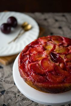 Anne of Green Gables and an Upside Down Plum Cake by The Hungry Australian
