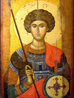 Byzantine icon of St. George, Athens Greece