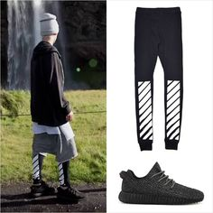 Justin Bieber Pants, Justin Bieber Posters, Justin Bieber Outfits, Justin Bieber Style, Mens Outdoor Fashion, Mens Fashion, Stylish Mens Outfits, Cool Outfits, Off White