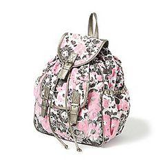 Watercolor Floral Print Backpack
