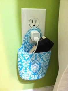 Modge podge COPYPAPER to empty lotion bottle for cell phone charger