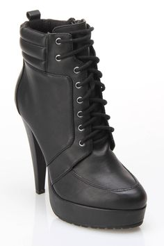 Charles David lace up booties
