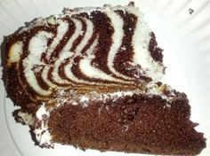 Zebra cake, I used the DUFF 'Ace of Cakes' cake mix box.