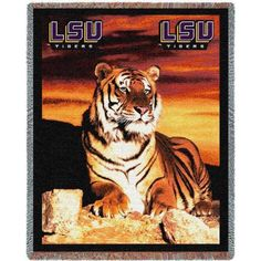 Pure Country Weavers Louisiana State University Tiger Throw - 4662-T