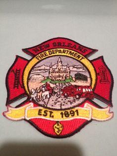 FIRE PATCH NEW ORLEANS FIRE DEPARTMENT CENTENNIAL PATCH