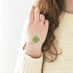 Tattly Shamrock St. Patrick's Day Temporary Tattoo