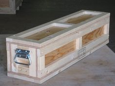 Wooden crate design.