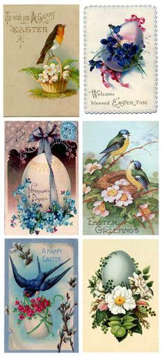 Vintage Easter Printable shared at katherines corner