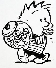 Calvin and Hobbes, DE\'s CLASSIC PICK of the day (7-11-14) - Calvin, cookie snatcher.