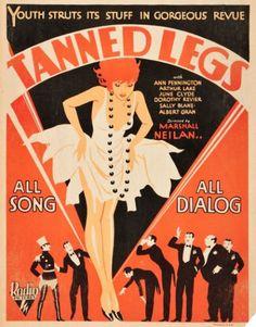 Window Card for RKO'S Tanned Legs c.1929 http://fleetingfancies.tumblr.com/page/4