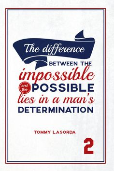 """""""Tommy Lasorda Quote on Print. See more at www.finesportsprints.com #lasorda #sportsquote #dodgers"""""""