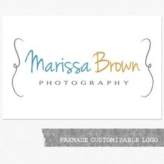 Photography Logo and Watermark - Customizable Premade Logo Design. $30.00, via Etsy.