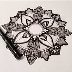 #mandala #zentangle #zenart #illustration #stippling #penandink #zen #linework #blackwork #inkart #mandalatattoo