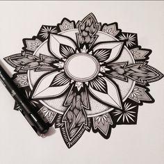 #mandala #zentangle #zenart #illustration #stippling #penandink #zen #linework #blackwork #inkart #mandalatattoo