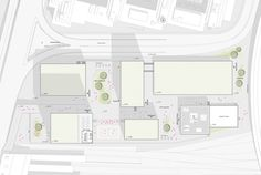 Geroldsareal Zürich West Sportzentrum   Situationsplan  Grundriss, floor plan,  Architektur, Architecture, sport, Graphic, Design, ZHAW, Studies, Project, University Planer, Floor Plans, Studio, Design, Floor Layout, Architecture, Studios, Floor Plan Drawing