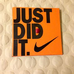 A guy friend asked me to make him a Nike themed grad cap! #nike #justdoit #graduationcap #classof2014