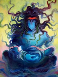 Buy Shiva 1 artwork number a famous painting by an Indian Artist R. Indian Art Ideas offer contemporary and modern art at reasonable price. Arte Shiva, Shiva Hindu, Shiva Art, Shiva Shakti, Hindu Deities, Krishna Art, Hindu Art, Shiva Sketch, Shiva Tattoo