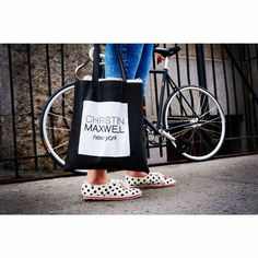 Sample delivery #MadeInNYC #ChristenMaxwell #PolkaDotKicks