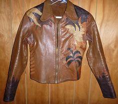 Vintage East West Musical Instrument Co Tiger Leather Jacket
