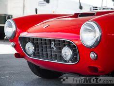 Ferrari 250 GT in the paddock at Laguna Seca by FryMoto on Etsy
