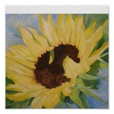 single sunflower poster