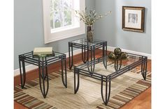 Shop for Exeter Occasional Table Set (Cocktail & 2 Ends) starting at at our furniture store located at 2500 W. 3 Piece Coffee Table Set, Coffee And End Tables, End Table Sets, A Table, Occasional Tables, Table Legs, Living Room Table Sets, Living Room Paint, My Living Room