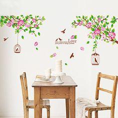 parete decalcomanie adesivi murali, stile a adesivi murali fiore di loto in pvc del 2015 a €15.87