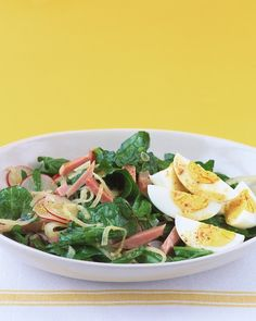 Spinach Salad with Ham and Egg Recipe | Cooking | How To | Martha Stewart Recipes