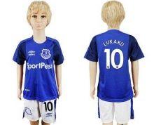 Everton #10 Lukaku Home Kid Soccer Club Jersey