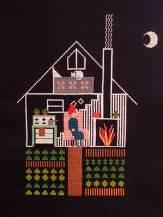 Nighttime. Needlepoint by Pin Pals.