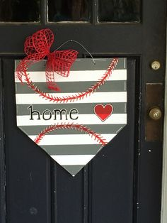 I love my new Home Plate wooden door hanger! Perfect for softball and baseball season!