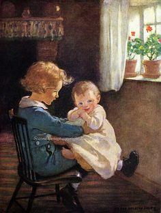 Brother with Baby Jessie Willcox Smith