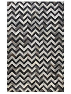 Chevron Cowhide Hand-Stitched Rug by Bashian Rugs at Gilt