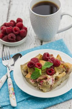 overnight raspberry and cream cheese french toast