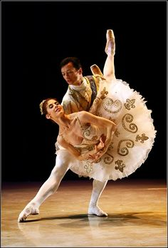 SAMB's principal dancers, Burnise Silvius and Michael Revie in Iain MacDonald's all-new Cinderella. MY BROTHER!!