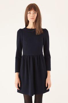 abito in piquet di lana