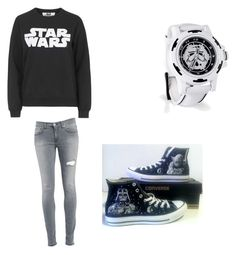 """Star Wars"" by alexis1263 on Polyvore featuring Tee and Cake, Dondup and Converse"