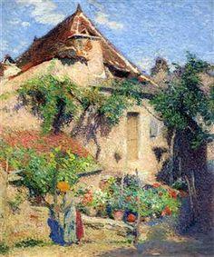 House and Garden at Saint-Cirq-Lapopie - Henri Martin