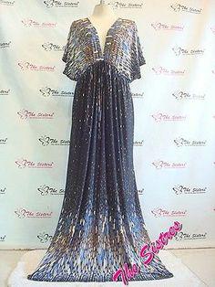 Women's Black Evening Summer Kimono Maxi Dress Plus Size XL XXL 3XL 16 18 20 | eBay