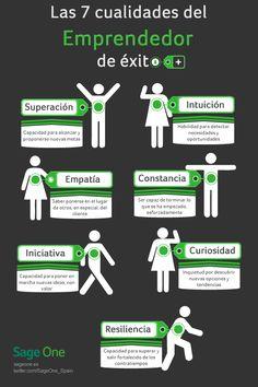 7 Cualidades de los emprendedores exitosos (infografía)