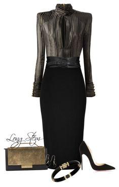 Balmain, L'Wren Scott, Christian Louboutin, J. Mendel and Yves Saint Laurent Dressy Outfits, Mode Outfits, Stylish Outfits, Fashion Outfits, Work Fashion, Runway Fashion, Womens Fashion, Fashion Trends, Mode Glamour