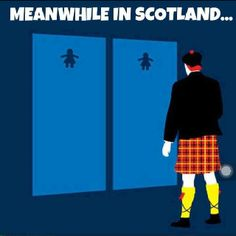Kilts... not gender confusion, but wardrobe confusion...hahaha, love it.
