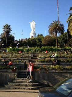 San Cristobal Hill: There are several ways up Cerro San Cristobal to the Parque Metropolitano Wonderful Places, Great Places, Chi Chi, Oh The Places You'll Go, Places Ive Been, Chile Tours, Public Garden, Culture Travel, Holiday Travel