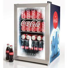 Nostalgia Coca-Cola Limited Edition Commercial Beverage Cooler in Blue displays your favorite drinks and keeps them cold and on hand. Coca Cola, Pepsi, Beverage Refrigerator, Mini Fridge, Nostalgia, Beverage Center, Stainless Steel Doors, Drink Dispenser, Glass Door