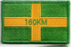 Vierdaagse patch/embleem, de vierdaagse vlag met 160 km , staat voor de wandelaars die de 160 km lopen. Exclusief te koop bij www.winkeltjevanjan.nl