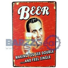 Vintage Metal Signs 'Beverage Theme Plaques' Pub Wall Decor  #salboken #bartender #happyhour #barrescue #weekend #cocktail #barzznet #beer #nightlife #barzz @barzz