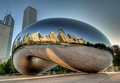 "The ""bean"" sculpture in one of my favorite cities - Chicago.  Has to be experienced first-hand to be appreciated."